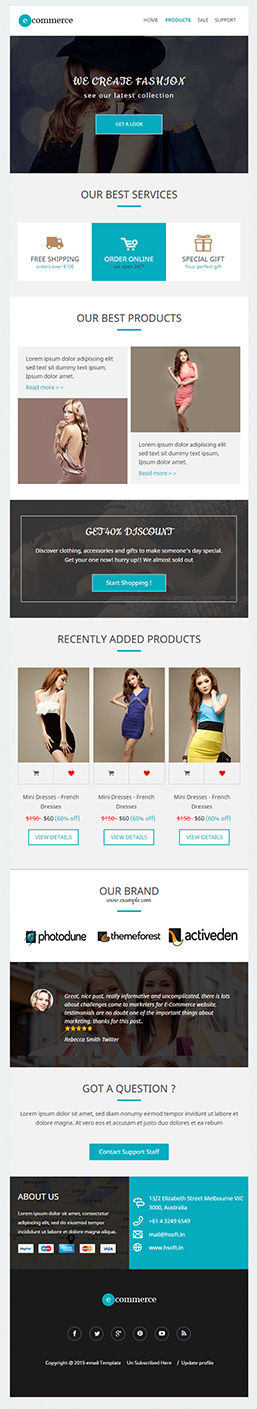 Best Ecommerce Responsive Email Template Builder Access - Best ecommerce email templates
