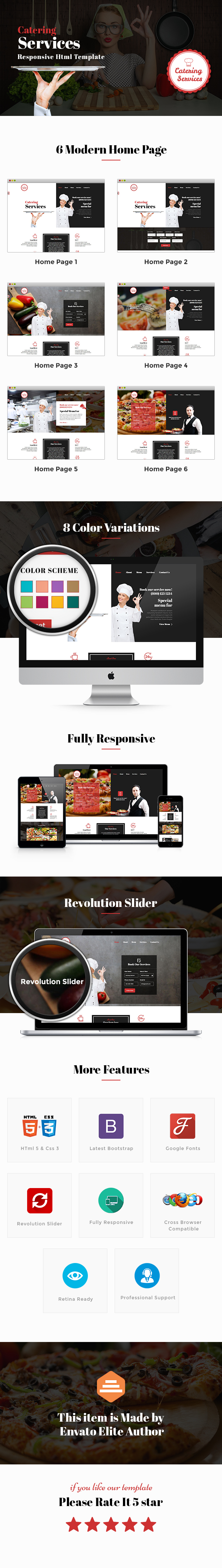 Catering - Chef and Food Restaurant Template | Chef Portfolio - 1