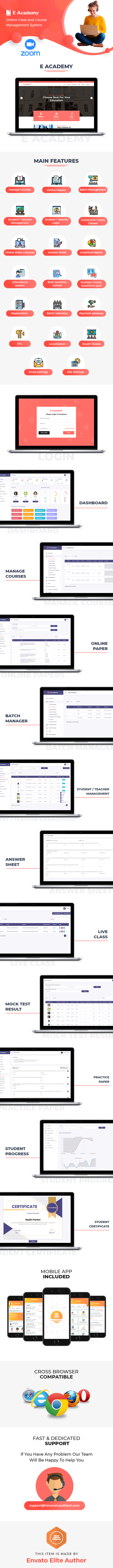 E-Academy - Online Classes / Institute / Tuition And Course Management (Android App + Admin Panel) - 1