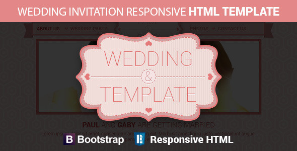 Wedding Invitation Responsive Html Template Preview.__large_preview